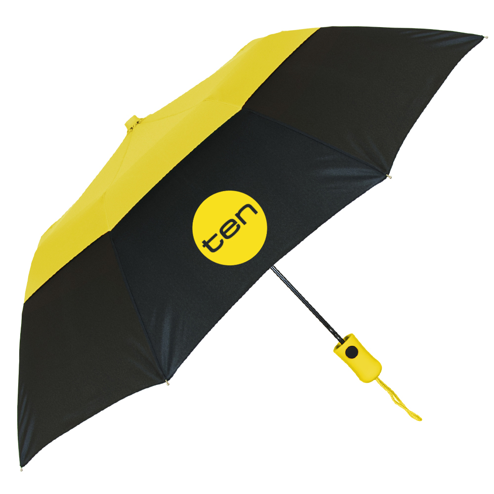 The Vented Color Crown Folding Umbrella