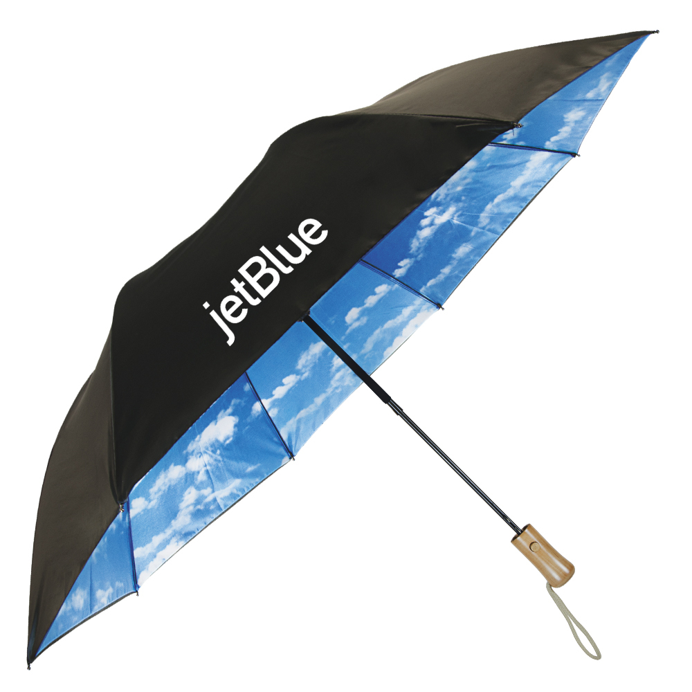 The Blue Sky & Clouds Folding Umbrella