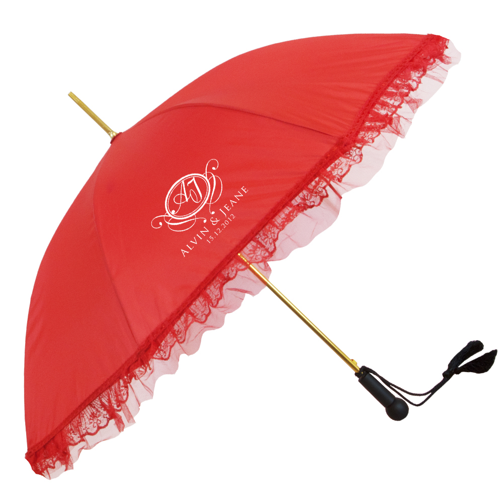 The Ladies Ruffle Fashion - Parasol Style Umbrella