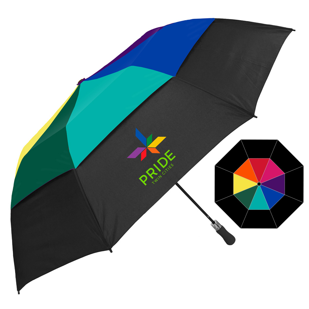The Vented Colossal Crown Extra-Large Folding Umbrella