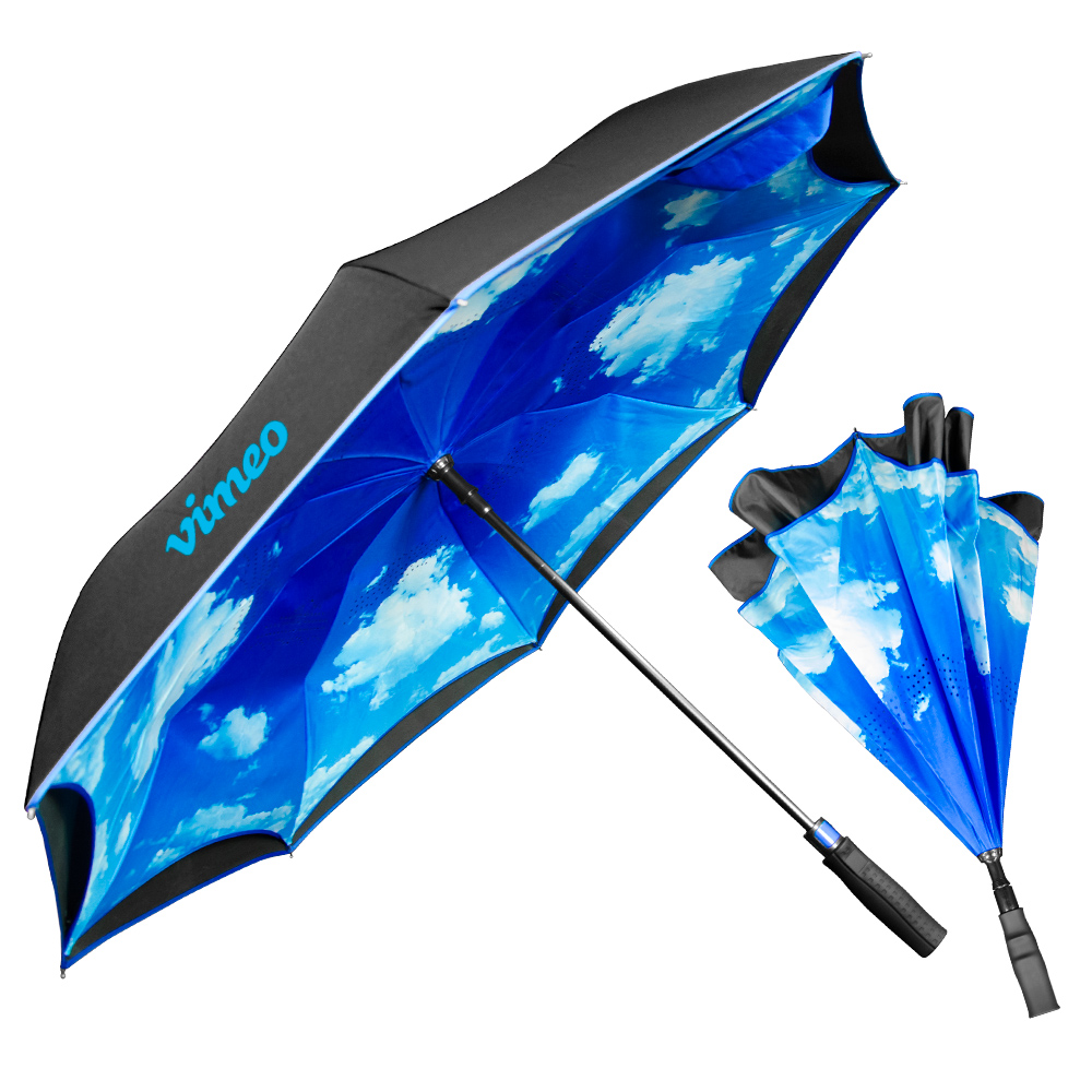 The Blue Sky & Clouds Inverted Umbrella