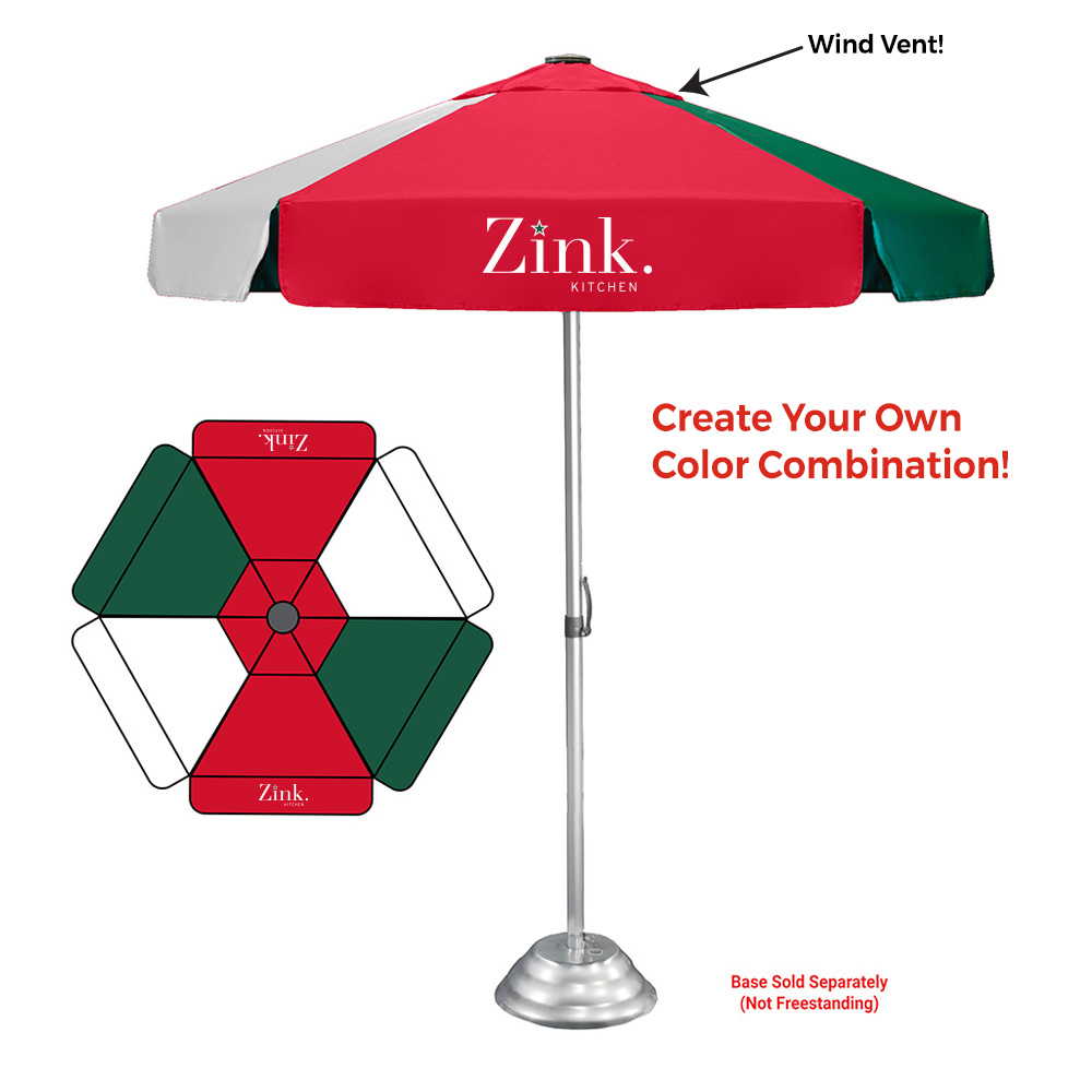 Color-Your-Way Vented Bistro - Customizable Patio Umbrella Canopy & Imprints