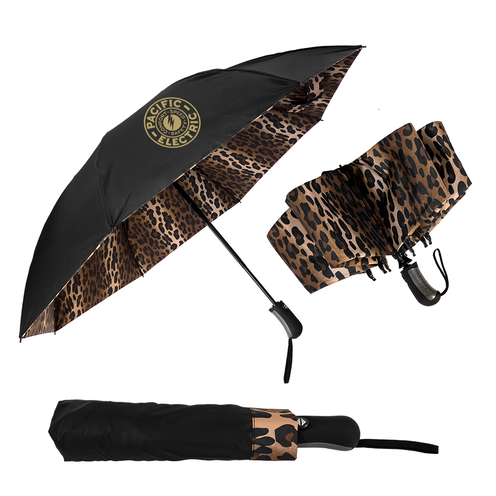 The Leopard Inverted Folding Umbrella