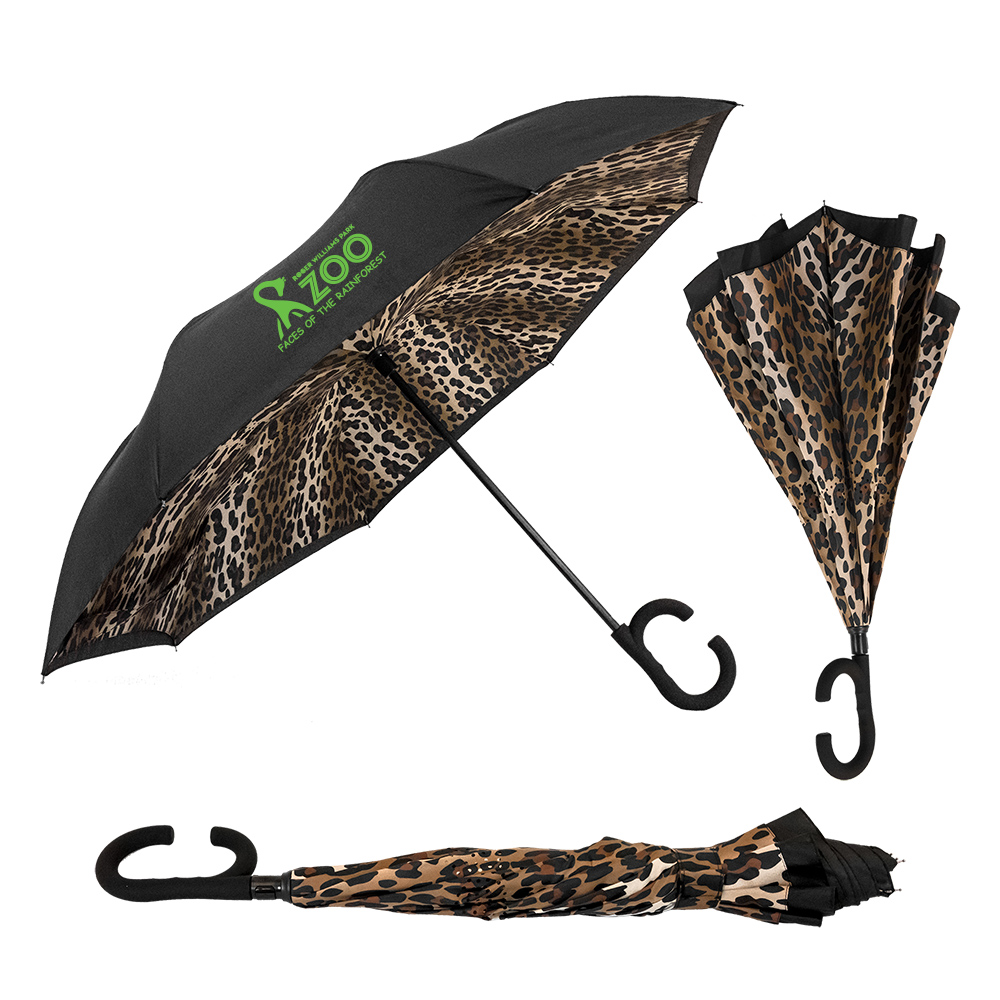 The Leopard ViceVersa Inverted Umbrella